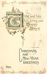 TIME AND TIDE BUT BRING YOU HAPPY DAYS
