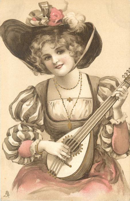 woman plays mandolin
