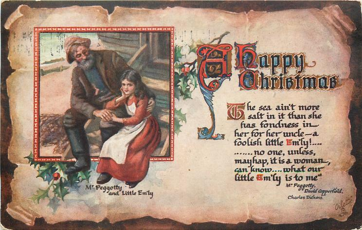 A HAPPY CHRISTMAS  inset illustrates