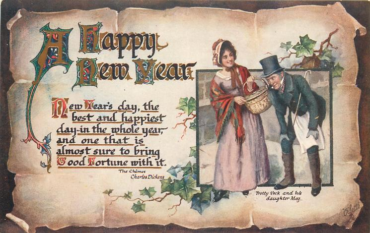 A HAPPY NEW YEAR  inset illustrates