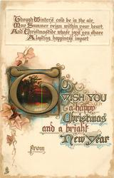 TO WISH YOU A HAPPY CHRISTMAS AND A BRIGHT NEW YEAR