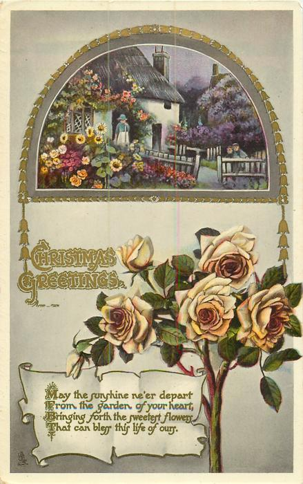 CHRISTMAS GREETINGS  yellow roses