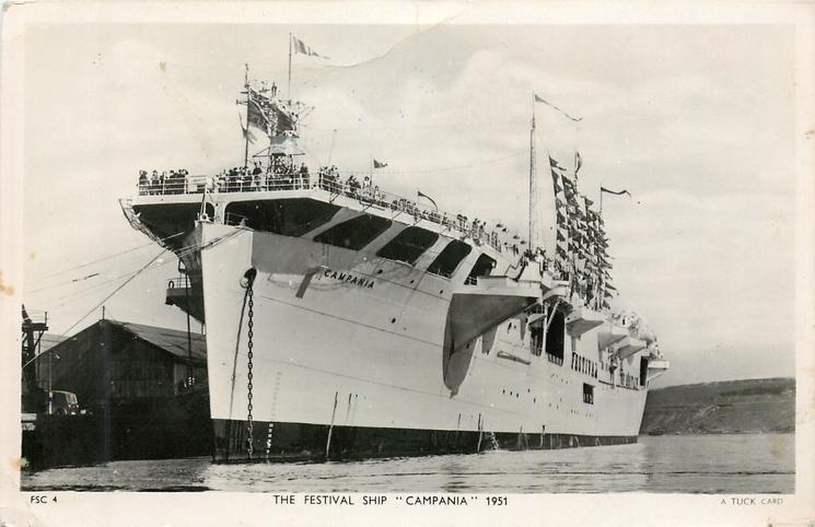 THE FESTIVAL SHIP CAMPANI, 1951