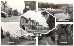 5 insets FLEET ROAD/FLEET POND AND SWIMMING POOL/FLEET ROAD/FLEET ROAD/THE CANAL