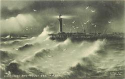 LIGHTHOUSE AND ROUGH SEA