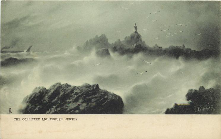 THE CORBIERRE LIGHTHOUSE, JERSEY