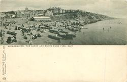 THE SANDS AND FRONT FROM THE PIER, EAST(same image Tuck error WEST1273)