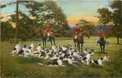 THE PACK AT EASE  fox-hunting