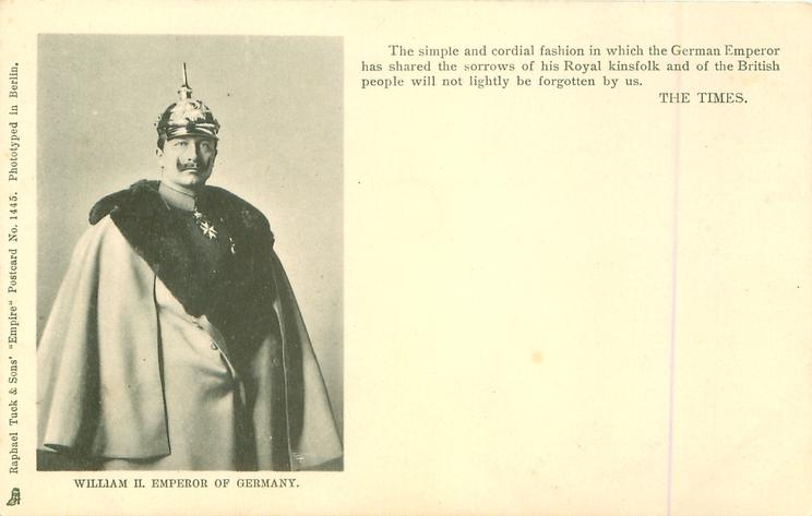 half length study in uniform, wearing a cape & helmet