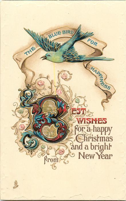 BEST WISHES FOR A HAPPY CHRISTMAS AND A BRIGHT NEW YEAR FROM bluebird