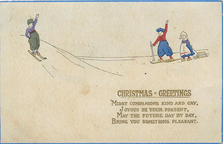 Christmas greetings dutch boy skies down from left boy girl right christmas greetings dutch boy skies down from left boy girl right m4hsunfo