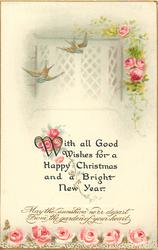 WITH ALL GOOD WISHES FOR A HAPPY CHRISTMAS AND A BRIGHT NEW YEAR  roses