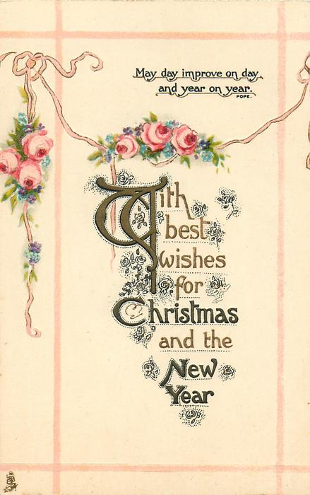 WITH BEST WISHES FOR CHRISTMAS AND THE NEW YEAR  roses