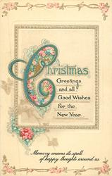 CHRISTMAS GREETINGS AND ALL GOOD WISHES FOR THE NEW YEAR