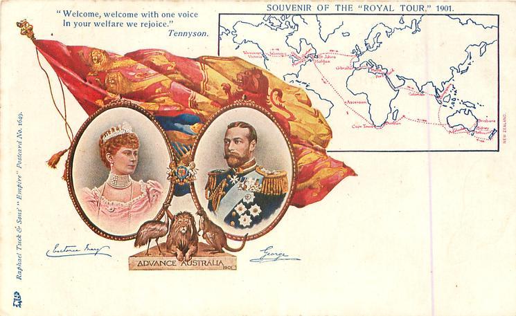 ADVANCE AUSTRALIA, SOUVENIR OF THE ROYAL TOUR 1901, with map