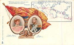 ADVANCE AUSTRALIA, SOUVENIR OF THE ROYAL TOUR 1901, with map