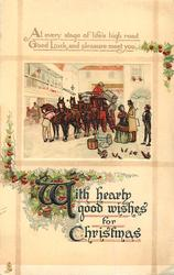 WITH HEARTY GOOD WISHES FOR CHRISTMAS  coach & horses just arrived
