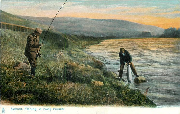 SALMON FISHING: A TWENTY POUNDER