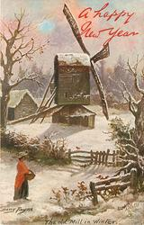 THE OLD MILL IN WINTER