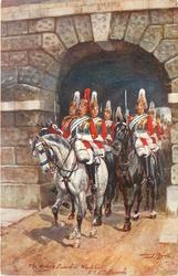 THE KING'S GUARD AT WHITEHALL, 2nd LIFE GUARDS