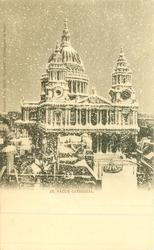 ST. PAUL'S CATHEDRAL  with or w/o snow scene