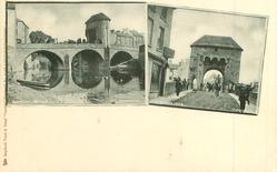 2 insets MONNOW BRIDGE//THE BRIDGE GATE, MONMOUTH