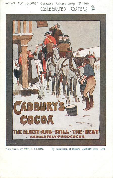 CADBURY'S COCOA, THE OLDEST AND STILL THE BEST, ABSOLUTELY PURE COCOA  coaching