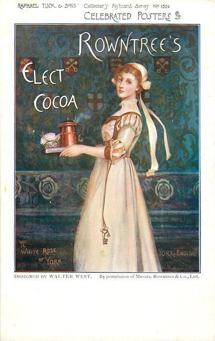 ROWNTREE'S ELECT COCOA  girl carrying tray