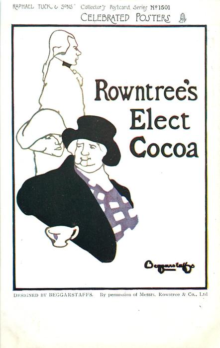 ROWNTREE'S ELECT COCOA  silhouettes of men