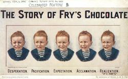 THE STORY OF FRY'S CHOCOLATE or FRY'S MILK CHOCOLATE  five expressions on same boy's face