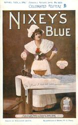NIXEY'S BLUE, MISS ELLEN TERRY AS MADAME SANS-GENE  ironing