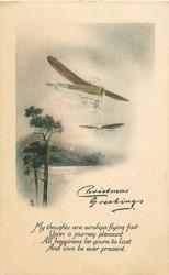 CHRISTMAS GREETINGS  2 antique planes