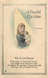 A PEACEFUL CHRISTMAS  madonna & child under star