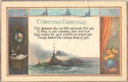 CHRISTMAS GREETINGS  battleship