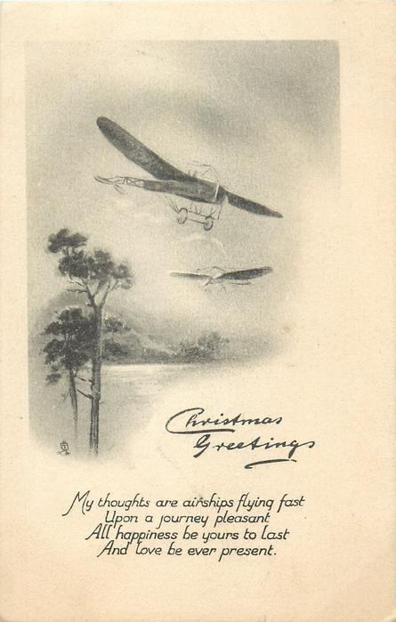 CHRISTMAS GREETINGS  old airplanes