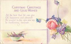 CHRISTMAS GREETINGS AND GOOD WISHES