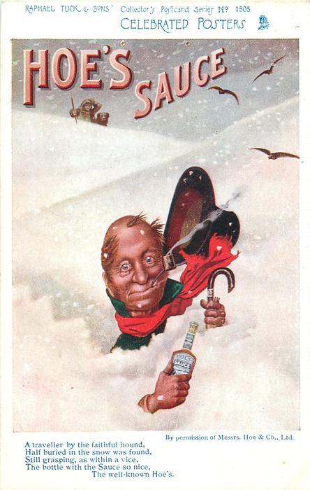 HOE'S SAUCE  man in snowdrift