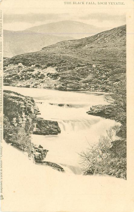 SUTHERLANDSHIRE, THE BLACK FALL, LOCH VEYATIE