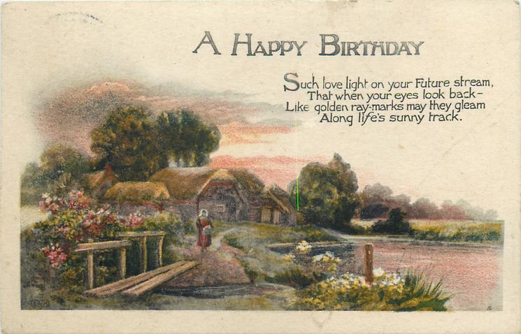 a happy birthday rural landscape