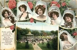 PRETTY GIRLS, SWEET GIRLS EVERYWHERE, BUT THE CARDIFF BELLES ARE CLAIMED MOST FAIR, inset CARDIFF, ROATH PARK