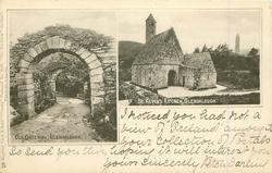 CO. WICKLOW   2 insets OLD GATEWAY, GLENDALOUGH//ST. KEVIN'S KITCHEN, GLENDALOUGH