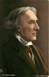 SIR HENRY IRVING  head and shoulders, looking right
