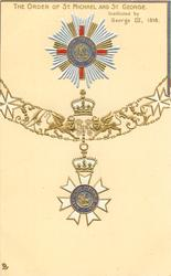 ORDER OF ST. MICHAEL AND ST. GEORGE. INSTITUTED BY GEORGE III, 1818