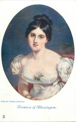 COUNTESS OF BLESSINGTON, FROM THE WALLACE COLLECTION