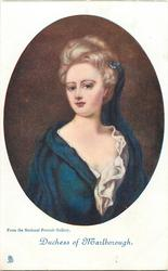 DUCHESS OF MARLBOROUGH, FROM THE NATIONAL PORTRAIT GALLERY