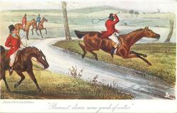 """""""BARONET CLEARS NINE YARDS OF WATER."""""""