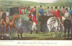 """THE """"MEET"""", WITH LORD DERBY'S STAG HOUNDS"""