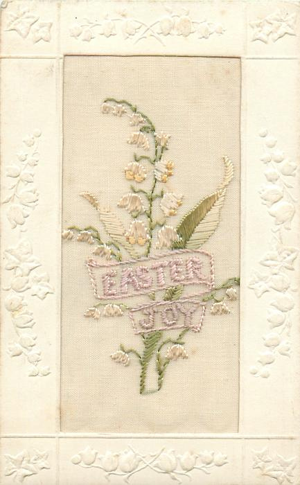 EASTER JOY  embroidered lilies-of-the-valley