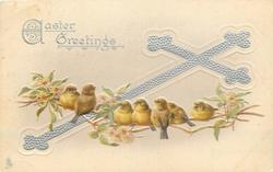 EASTER GREETINGS  seven birds