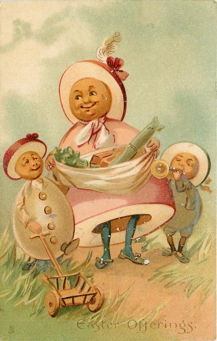 EASTER OFFERINGS  Egg-mother & two Egg-children